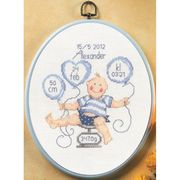 Boy Scales Sampler - Permin Cross Stitch Kit