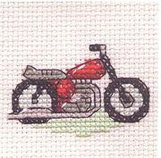 Red Motorbike - Mouseloft Cross Stitch Kit