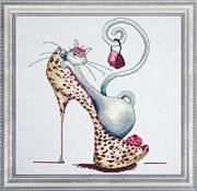 Fashionista Cat - Design Works Crafts Cross Stitch Kit
