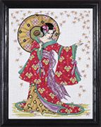 Design Works Crafts Red Geisha Cross Stitch Kit