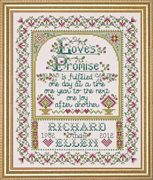 Design Works Crafts Love's Promise Wedding Sampler Cross Stitch Kit
