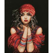 Lanarte Gypsy Girl Cross Stitch Kit