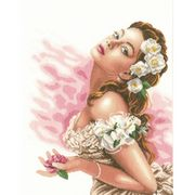 Lanarte Lady of the Camellias - Aida Cross Stitch Kit