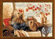 RIOLIS Yorkshire Terriers Cross Stitch Kit