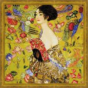 RIOLIS Lady with Fan Cross Stitch Kit