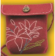 Kleiber Burgundy Rose Bag Small Craft Kit