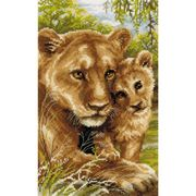 Lioness with Cub - RIOLIS Cross Stitch Kit
