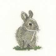 Baby Rabbit -Aida - Heritage Cross Stitch Kit