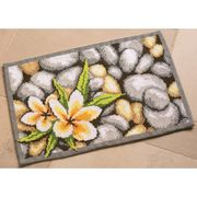 Vervaco Frangipani Rug Cross Stitch Kit
