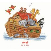 Vervaco Noah's Ark Birth Record Birth Sampler Cross Stitch Kit