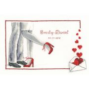 Vervaco First Dance Wedding Record Wedding Sampler Cross Stitch Kit