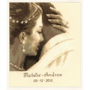 Vervaco Tender Moment Wedding Record Wedding Sampler Cross Stitch Kit