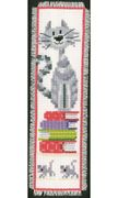 Cat and Books Bookmark - Vervaco Cross Stitch Kit