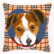 Tartan Dog Cushion - Vervaco Cross Stitch Kit