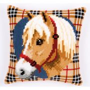 Vervaco Tartan Horse Cushion Cross Stitch Kit