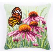 Daisy and Butterfly Cushion - Vervaco Cross Stitch Kit