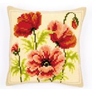 Vervaco Poppies Cushion Cross Stitch Kit