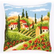Vervaco Village Scene Cushion Cross Stitch Kit