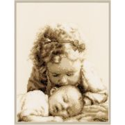 Vervaco Sisterly Love Birth Sampler Cross Stitch Kit