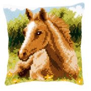 Foal Cushion - Vervaco Cross Stitch Kit