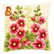 Vervaco Delphiniums Cushion Cross Stitch Kit