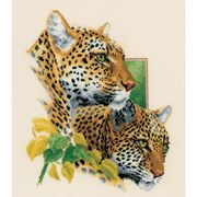 Leopard Duo - Evenweave - Vervaco Cross Stitch Kit