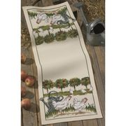 Orchard Chickens Runner - Permin Cross Stitch Kit