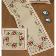 Red Roses Runner - Permin Cross Stitch Kit