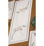 Permin Orchid Runner Cross Stitch Kit