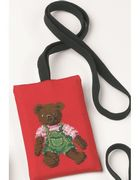 Brown Teddy Phone Case - Permin Cross Stitch Kit