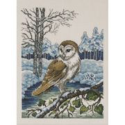 Permin Barn Owl - Evenweave Christmas Cross Stitch Kit