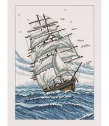 Permin Schooner Cross Stitch Kit