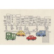 Permin High Street Scene Cross Stitch Kit