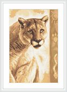 Luca-S Panther Cross Stitch Kit