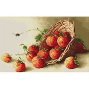 Luca-S Basket of Strawberries Cross Stitch Kit