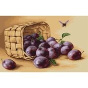 Luca-S Basket of Plums Cross Stitch Kit