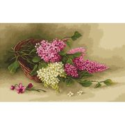 Basket with Lilac - Luca-S Cross Stitch Kit