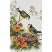 Luca-S Birds in Nest Cross Stitch Kit