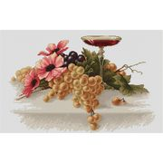 Flowers and Grapes - Luca-S Cross Stitch Kit