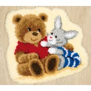Vervaco Teddy and Bunny Rug Latch Hook Kit