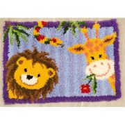 Vervaco Lion and Giraffe Rug Latch Hook Kit