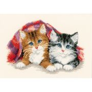 Kittens Under the Rug - Vervaco Cross Stitch Kit