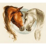 Horse Duo - Evenweave - Vervaco Cross Stitch Kit
