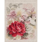 Vervaco Red Rose Cross Stitch Kit