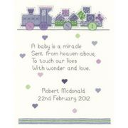 Heritage Baby Boy - Aida Birth Sampler Cross Stitch Kit