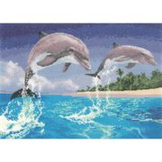Dolphins - Aida - Heritage Cross Stitch Kit