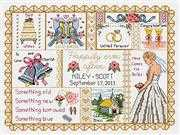 Janlynn Wedding Collage Wedding Sampler Cross Stitch Kit