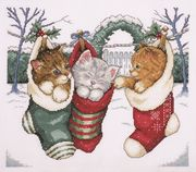 Design Works Crafts Cozy Kittens Cross Stitch