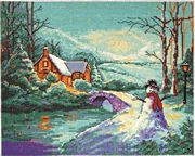 Design Works Crafts Winter Cottage Cross Stitch Kit