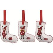 Permin Children and Presents Tree Stockings Cross Stitch Kit
